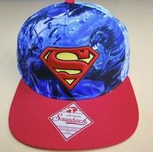 SUPERMAN Adjustable OSFA Snapback Hat Cap DC Comics Bioworld Clark Kent ... - $17.82