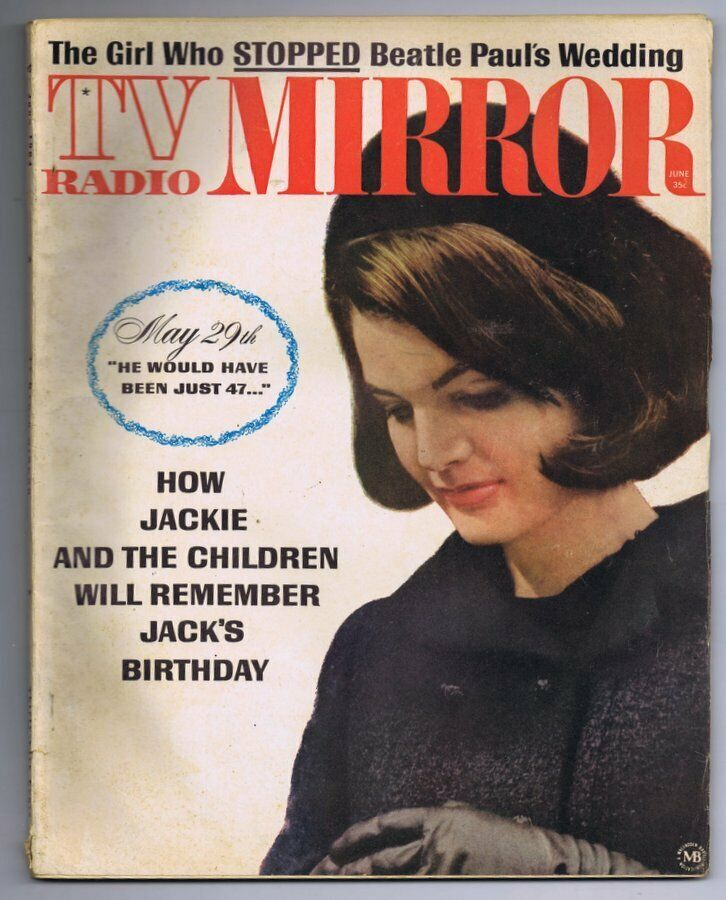 Primary image for VINTAGE June 1964 TV Radio Mirror Magazine Jackie Kennedy JFK