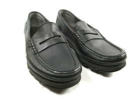Mephisto Ralyx Air Relax Mens Black Caoutchouc Leather Penny Loafers Siz... - $88.11