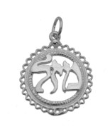 JEWISH Faith MAZEL GOOD LUCK CHARM Pendant Sterling Silver 925 Jewelry New - $16.55