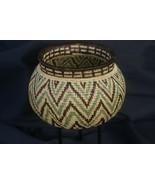 Authentic Rainforest Wounaan Indian Hösig Di Zig Zag Motif Artist Basket... - $427.49