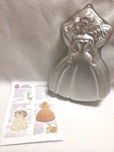 Wilton Barbie Dream Bride Birthday Cake Pan Mold Vtg 1992 With Instructions - $7.73
