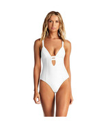 Vitamin A Women's Neutra Maillot One Piece Plunge Swimsuit, Eco White, 4... - $123.75