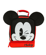 Mickey Mouse Ears Double Compartment Lunch Bag Black - $17.98