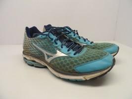 Mizuno Women's Wave Rider 18 Running Shoe Blue Atoll/Silver/BlueDepths Size 10.5 - $17.80