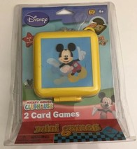 Disney Mickey Mouse ClubHouse 2 Card Games Mini Clip N' Go Travel Case New - $14.84