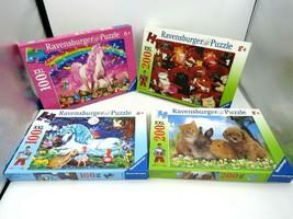 Ravensburger Jigsaw Puzzle Lot of Four (4) - Unicorn, Horse, Kitten Themes - $49.45