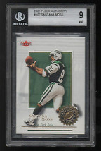 SANTANA MOSS 2001 Fleer Authority #107 Authentic Rookie Beckett 9 Jets - $3.00