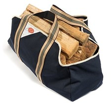 Smiling Hosts Firewood Log Carrier - Heavy Duty Log Tote Bag with Handle... - $14.32