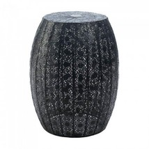 Black Moroccan Lace Stool - $62.32