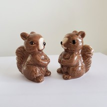 "Squirrel Salt & Pepper Shakers, Ceramic 2.5"" Woodland Animal Kitchen Accessory image 3"