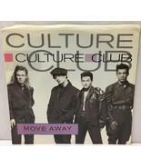 """Culture Club Move Away 45 rpm 7"""" Vinyl Record w/ PS Virgin 1986 34-05847... - $14.28"""