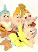 Disney Store Dwarfs plush Lot 4 Sneezy Doopey Doc Bashful - $39.55