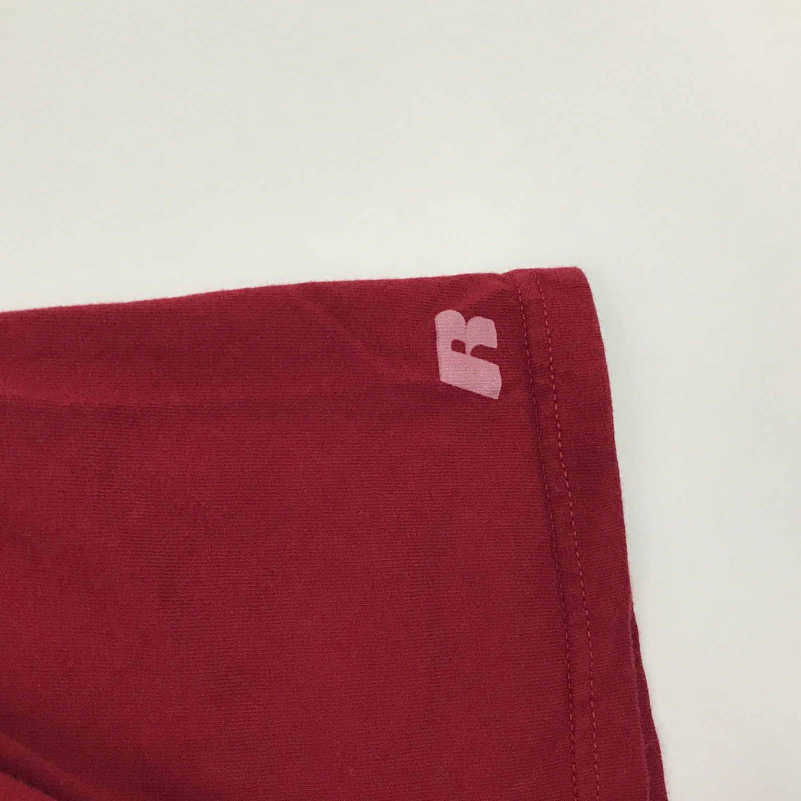 Neuf Russell Athletic Stanford T-Shirt Taille Adulte Large Rouge Manche Courte