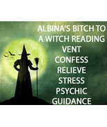 PSYCHIC READING BITCH TO A WITCH VENT, CONFESS RELIEVE STRESS 99 yr Cas... - $59.77