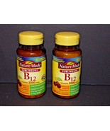 2 Bottles Nature Made B12 Vitamin 3000 mcg 40 Micro Lozenges Each 12/201... - $13.85