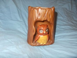 OWL FIGURINE MID-CENTURY FOR KITCHEN - DESK - UTENSIL HOLDER OWL SITTING... - $12.50