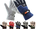 Men Polar Fleece Gloves Winter Warm Thermal Motorcycle Ski Snowboard Soft Gloves