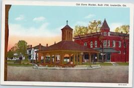 Vintage Postcard Old Slave Market Louisville Georgia GA USA Unposted H2 - $5.61