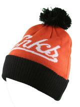 Crooks & Castles Collegiate Orange Black Pom Beanie Winter Hat I1270801 NWT image 2