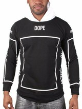 Dope Couture Blanco y Negro Bougie Tripulante Chándal Suéter con Capucha Nwt