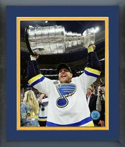 Carl Gunnarsson with 2019 Stanley Cup® Championship Trophy Matted/Framed... - $43.55