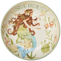 "Mermaid Sea Beauty Ceramic Pasta Serving Bowl 13.25"" Diameter - $39.59"