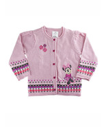 Disney Store Baby Girls Minnie Mouse Button Down Sweater, Pink, 18-24 Mo... - $25.00
