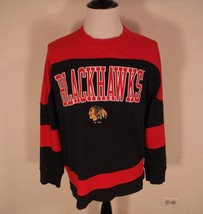 NHL Hockey Chicago Blackhawks Red Black Jersey Embroidered  Men's Size L... - $32.71