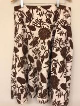 Gap Womens 12 Skirt Linen Floral Brown White A Line - $19.80