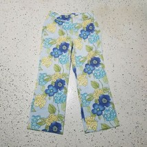 Talbots Women's Capri Pants ~ Sz 8 ~ Blue ~ Floral ~ Stretch  - $14.84