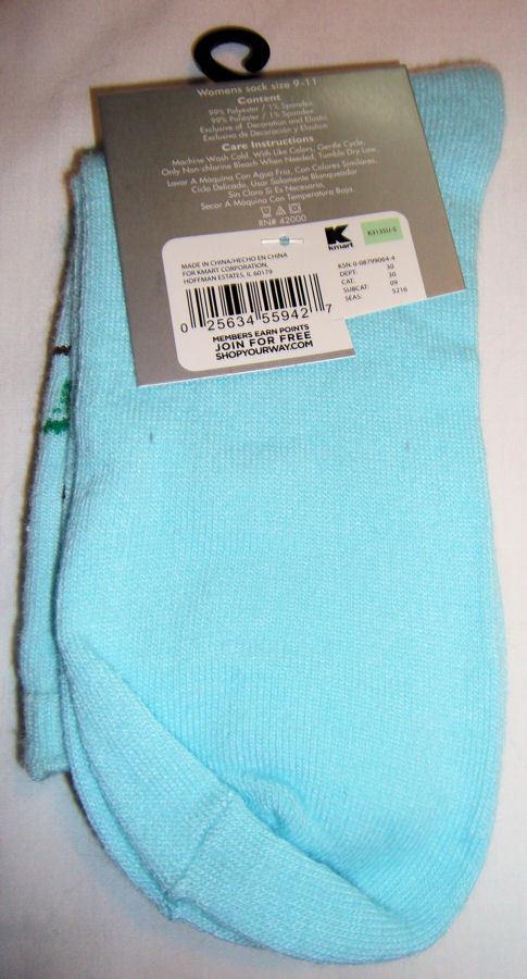 Owl Love Birds Christmas Holiday Socks Women's Shoe Size 4 to 10 NEW