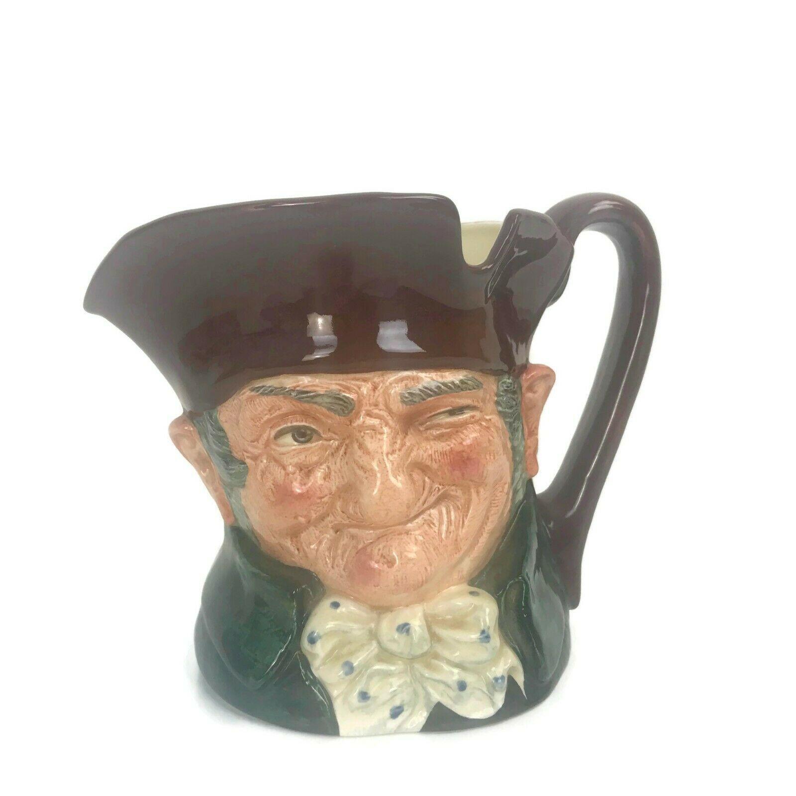 "Vintage Royal Doulton England Old Charley Toby Mug Jug HN 5420 Large Size 6"" B12 - $25.02"