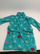 Girls Fluffy Blue Robe Heart Pockets & Stars Small Xhiliration - $7.13