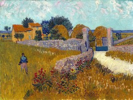 Farmhouse In Provence Painting by Vincent van Gogh Art Print Reproduction - $32.99+