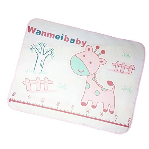 Pink Giraffe Baby KeepMeDry Pad Newborn Crib Sheet Infant Mattress Cover 6080CM