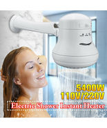 Electric Shower Head Temperature Instant Hot Water Mode Heater Bath Hose... - $17.00