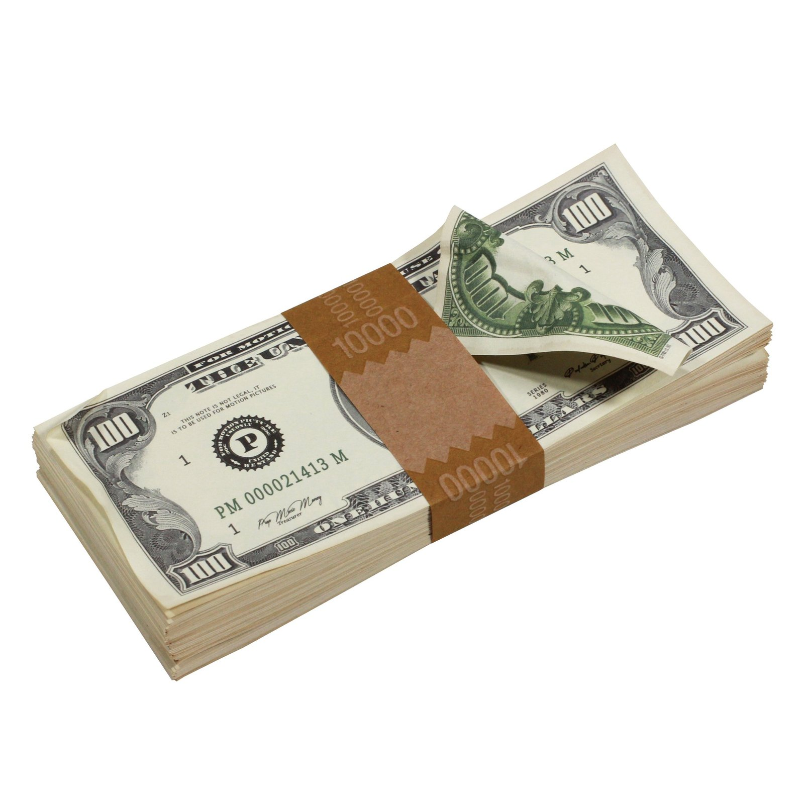 1980s Series $100s Aged $1,000,000 Full Print Package Realistic Prop Money image 2