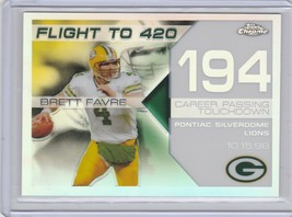 2007 Topps Chrome Brett Favre Flight to 420 - White Refractor /100 BFC-B... - $9.50