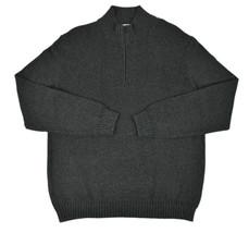 Calvin Klein Mens Marled Dark Grey Ribbed Half Zip Sweater XL $89 [3216-2] - $25.45