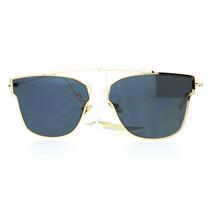 Womens Designer Fashion Sunglasses Thin Metal Frame Flat Rim Flat Lens - $11.95