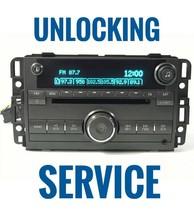GM Radio CD Players Unlocking Service - $29.65