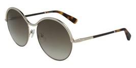 NEW Longchamp LO123SL 717 Round Gold Sunglasses with Bourbon Lenses & Case - $84.10