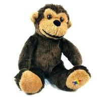 "Noah's Ark Plush Monkey 14"" Brown Stuffed Animal Rainbow Star on Foot Ch... - $16.83"