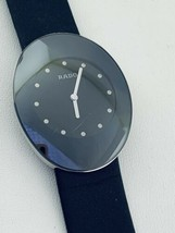 Rado eSenza 964.0490.3 Black Dial Leather Strap Swiss Quartz Dress Men's Watch - $685.02