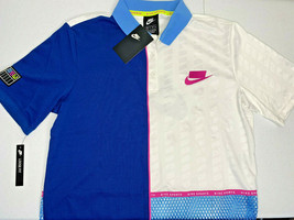 NWT XS WOMEN Nike Sportswear Short Sleeve Polo NSW Loose Fit Logo Back Mesh - $26.72
