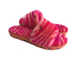UGG COZETTE ZEBRA ROCK ROSE SHEARLING MOCASSIN SLIPPERS US 9 / EU 40 / UK 7 - $88.83