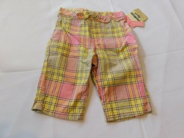 Osh Kosh B'gosh Youth Girl's Size 12 Months Capri Pants Cropped Plaid Mu... - $16.19