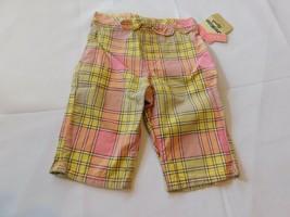Osh Kosh B'gosh Youth Girl's Size 12 Months Capri Pants Cropped Plaid Mu... - $16.19