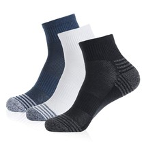 3 Pairs Cotton Cushion Ankle Athletic Socks - $10.95